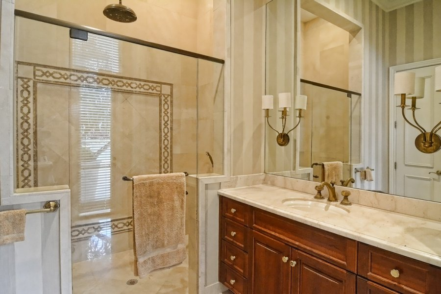 Vanity and Walk-in Shower